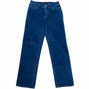 Christopher Blue Stretch High Waisted Jeans